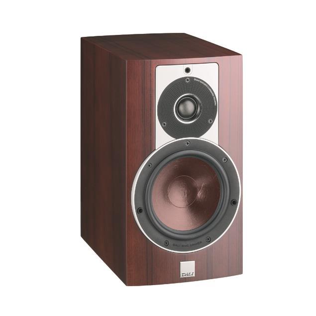 DALI Rubicon 2 - 2-Way bass reflex bookshelf speaker (40-150 W / rosso veneer / 1 piece)