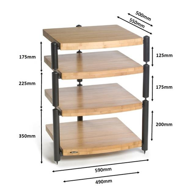 Atacama ERIS ECO 5.0 - hifi rack with 3 modules (bamboo solid wood / spikes) - from the exhibition (normal RRP = 459,90 Euro) -  sale ONLY possible with pick up!