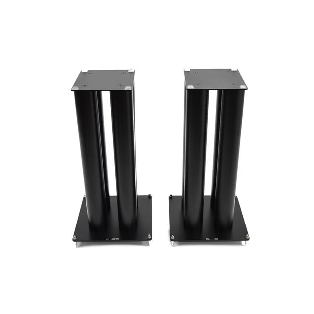 Atacama HMS 2X - high mass loudspeaker stands (600 mm / for heavy load / black / top plates = 200 mm width + 225 mm depth / 4 support columns per stand / 1 pair)