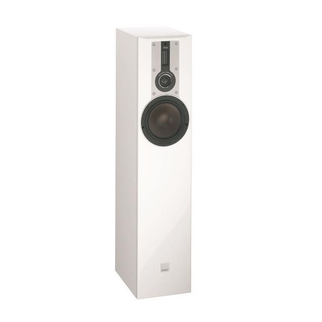 DALI Opticon 5 - 2,5-Way bass reflex floorstanding loudspeaker (30-150 W / matt satin white / 1 piece)