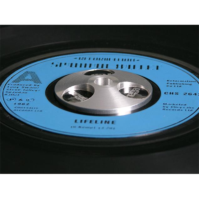 Rega Single puck - record adaptor (for 45s singles with a large center hole / made of aluminum)