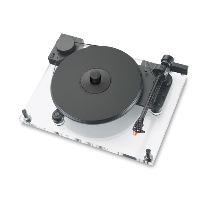 Pro-Ject Perspective Anniversary - record player incl. 9-inch tonearm + MM cartridge Ortofon 2M bronze (transparent acrylic chassis / + speed box / + phono RCA cable)