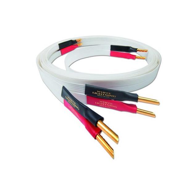 Nordost White Lightning - loudspeaker cable (banana plugs / 2 x 3.0 m / white)