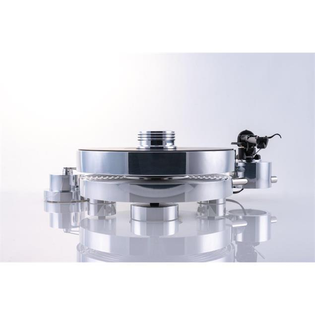 Transrotor MAX - high end record player + Transrotor - Uccello - MM cartridge (incl. Transrotor - TR800-S tonearm / incl. counterweight / in silver finish)