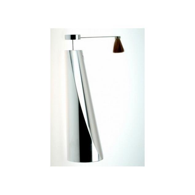 Transrotor design stand with broom for ZET models (silver chrome steel)