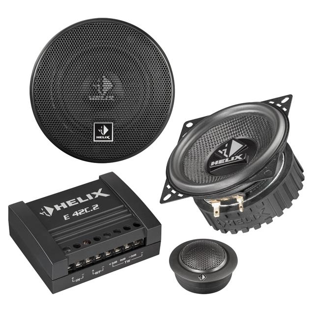 HELIX E 42C.2 - 2-way loudspeaker component system (10 cm / 100 mm / 50 Watts RMS / 150 Watts Max. / black)