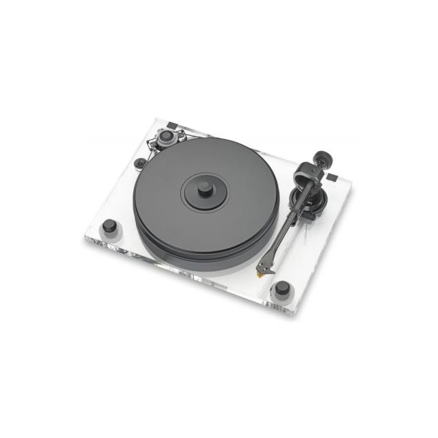 Pro-Ject 2-Xperience Acryl SB SuperPack - record player incl. tonearm + Ortofon MM cartridge 2M Bronze + speedbox (with speed control / + tonearm cable / + dust cover)