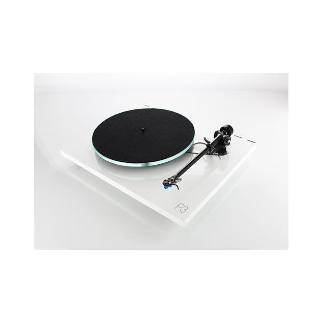 Rega Planar 3 - record player with Rega RB330 tonearm without pickup (high-gloss white / 2016 version)