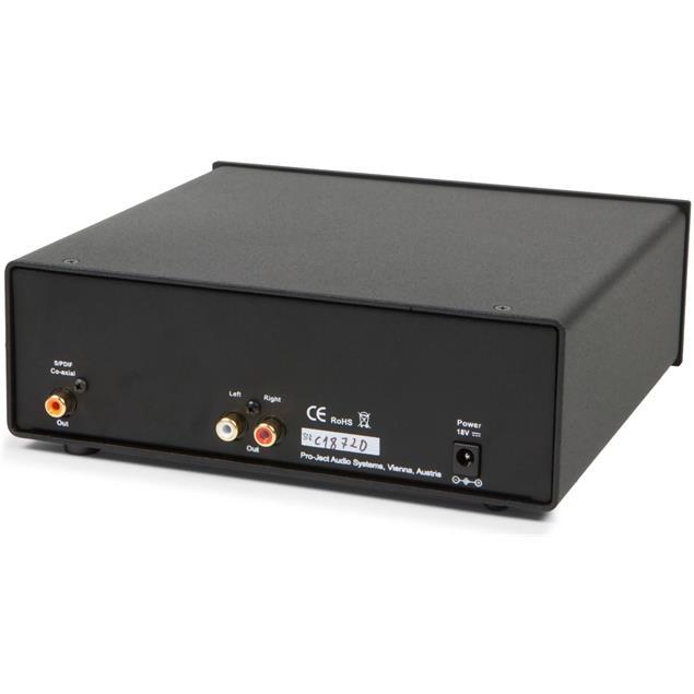 Pro-Ject CD Box DS – high end CD player (slot-in mechanism / incl. D/A converter 24bit/192kHz Burr Brown (PCM1796) / CD Audio / CD-R / CD-RW / Hybrid SACD / incl. IR remote control / silver)