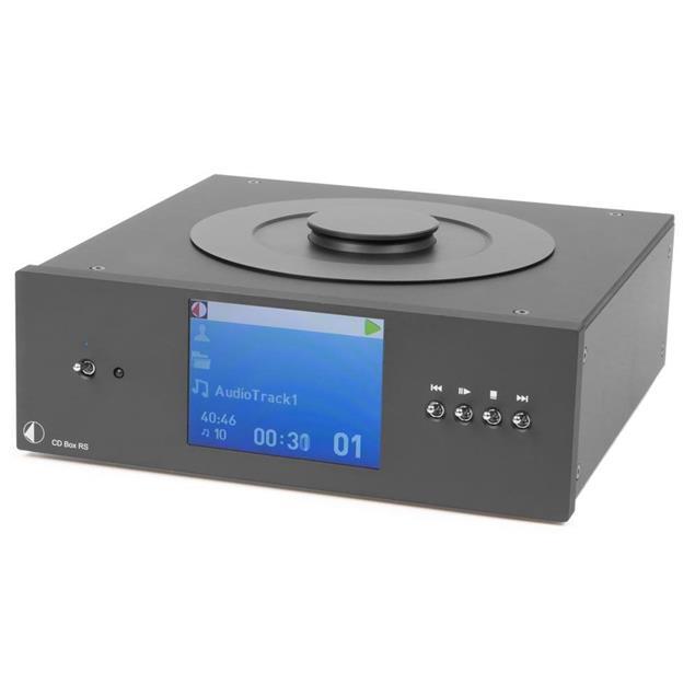 Pro-Ject CD Box RS – high end CD player (toploading CD drive / CD Audio / CD-R / CD-RW / Hybrid SACD / incl. IR remote control / black)