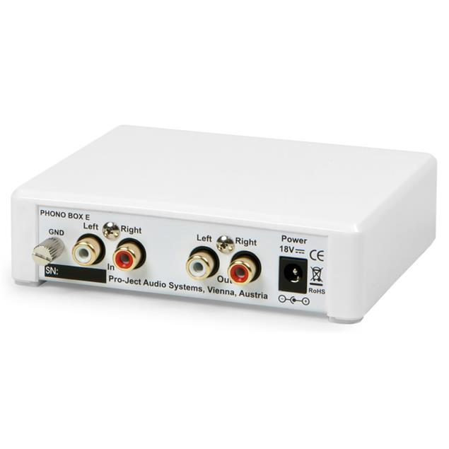 Pro-Ject Phono Box E - phono preamplifier (MM / incl. outboard power supply / white)