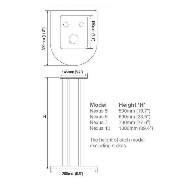Atacama Nexus 6i - loudspeaker stands (600 mm / silver / 1 pair)