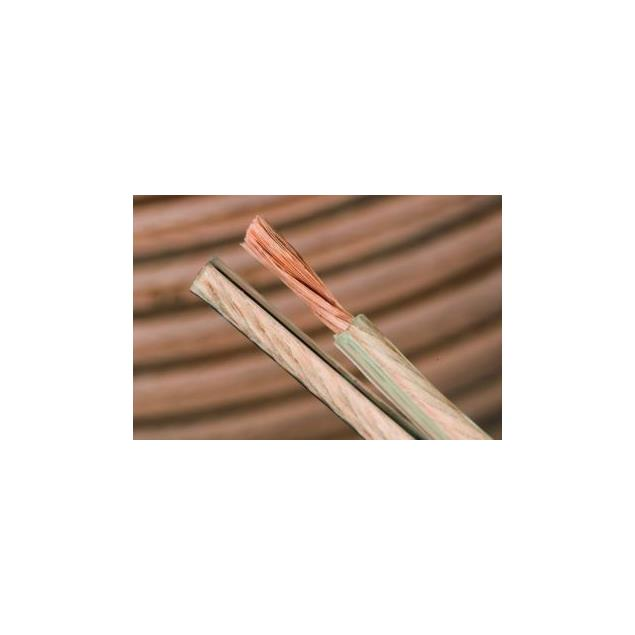 Silent Wire LS 3 - flexible loudspeaker cable (1 m / made from copper / transparent / 2 x 4,0 qmm)