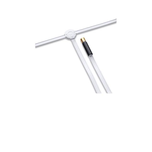 Oehlbach 17217 - FM Wire - passive FM antenna (FM / VHF / 75 ohm adapted coax plug / white)