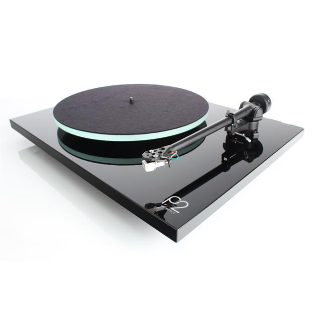 Rega Planar 2 - record player with Rega RB220 tonearm and Rega CARBON MM cartridge (high-gloss black / 2016 version)