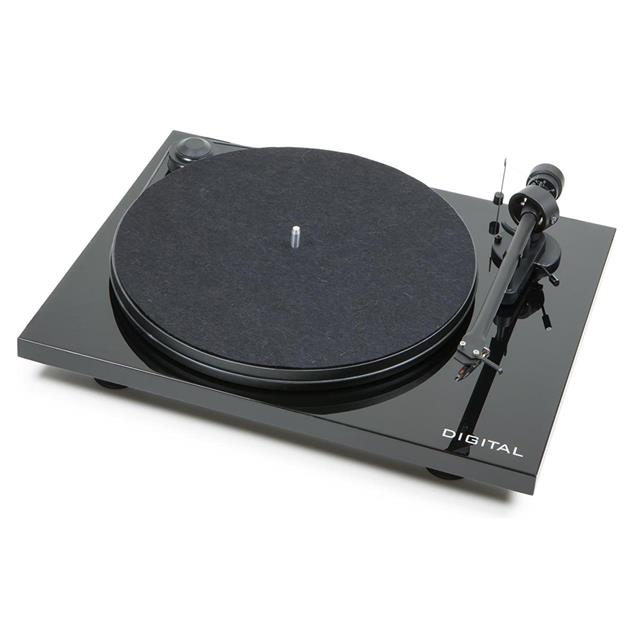 Pro-Ject Essential II Digital - record player incl. tonearm + Ortofon cartridge OM 5E (piano black)