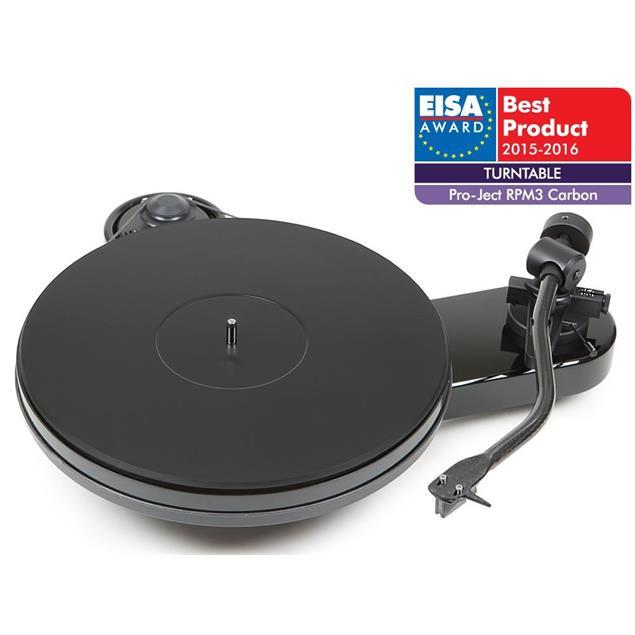 Pro-Ject RPM 3 Carbon - record player incl. tonearm + Ortofon 2M silver MM cartridge (piano gloss black)