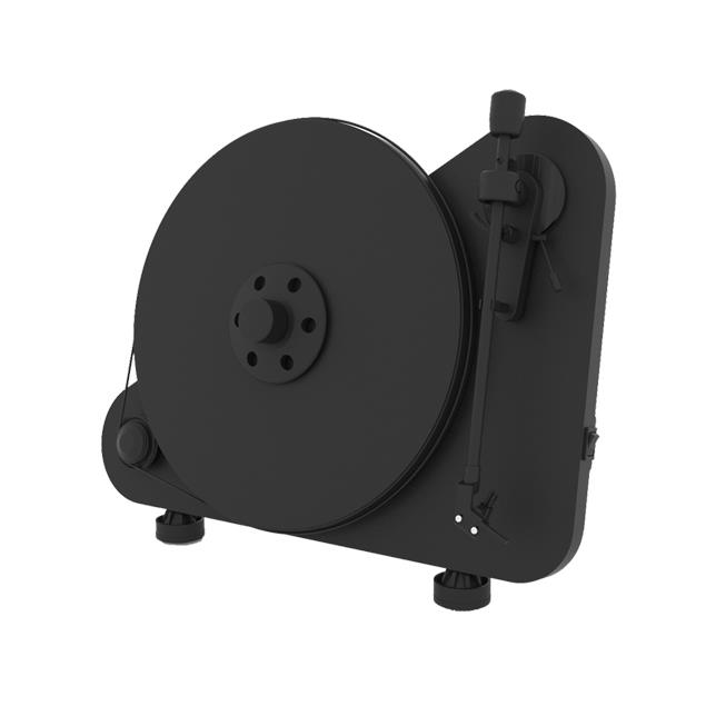 """Pro-Ject VT-E BT R (for right-handed) - vertical record player with Ortofon OM 5E cartridge and Bluetooth output (black / with straight 8,6"""" tonearm / Bluetooth)"""