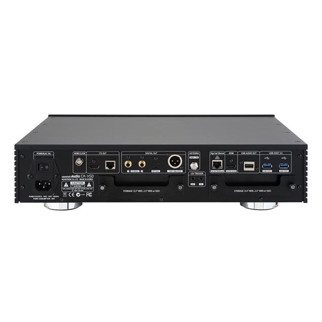 Cocktail Audio X50 without hard drive (black / All-in-One HD music server / preamplifier with XLR / phono pre)