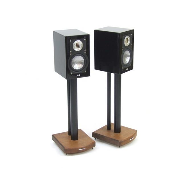 Atacama Moseco 5 - loudspeaker stands (515 mm / black & base plate made of dark bamboo solid wood = dark bamboo / 1 pair)