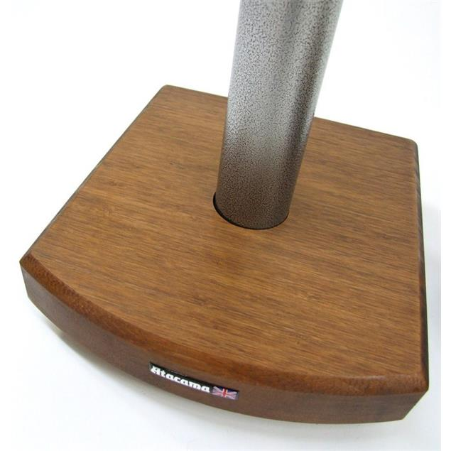 Atacama Moseco 6 - loudspeaker stands (615 mm / black & base plate made of dark bamboo solid wood = dark bamboo / 1 pair)