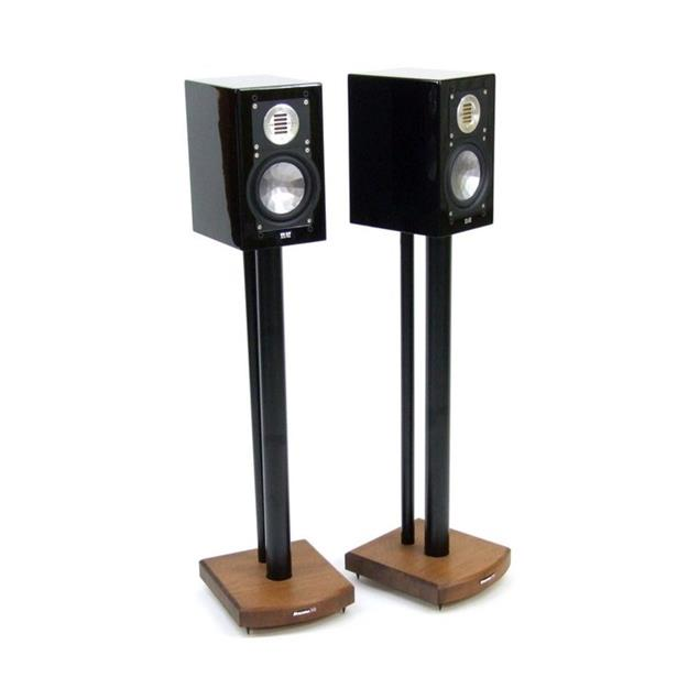 Atacama Moseco 7 - loudspeaker stands (715 mm / black & base plate made of dark bamboo solid wood = dark bamboo / 1 pair)