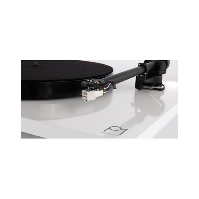 Rega Planar 1 - record player with Rega RB110 tonearm and Rega CARBON MM cartridge (high-gloss white / 2016 version)