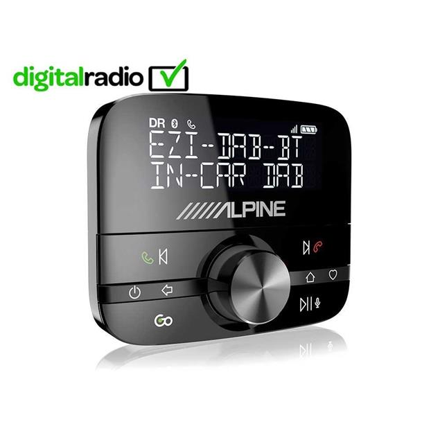 ALPINE EZI-DAB-BT - digital double tuner (DAB/DAB+/DMB radio / extension module for all autoradios with AUX-IN / integrated Bluetooth® module for hands-free / A2DP/AVRCP)