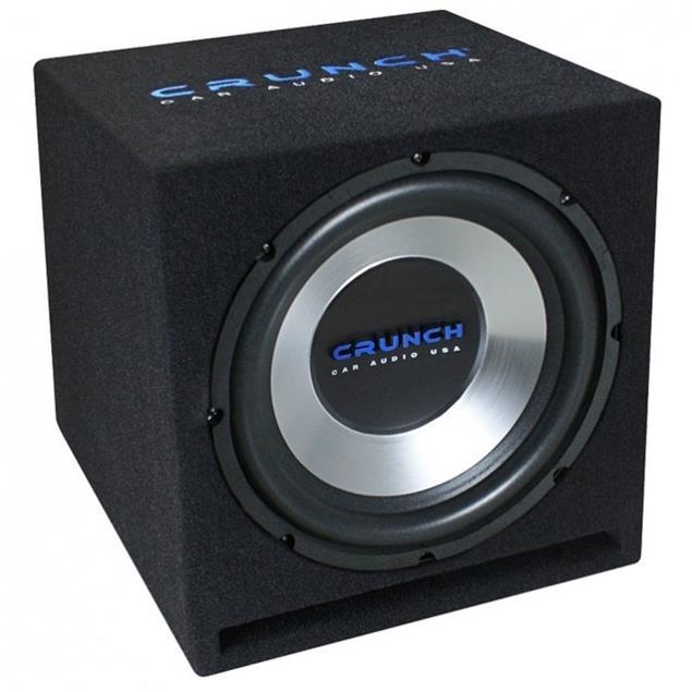 CRUNCH CBP1000 - 1000 Watt basspack - car hifi bass system complete set (package consisting of 1 x amplifier Crunch GPX1000.4, 1 x subwoofer Crunch GPX350, 1 x cable set Crunch GPX10WK)