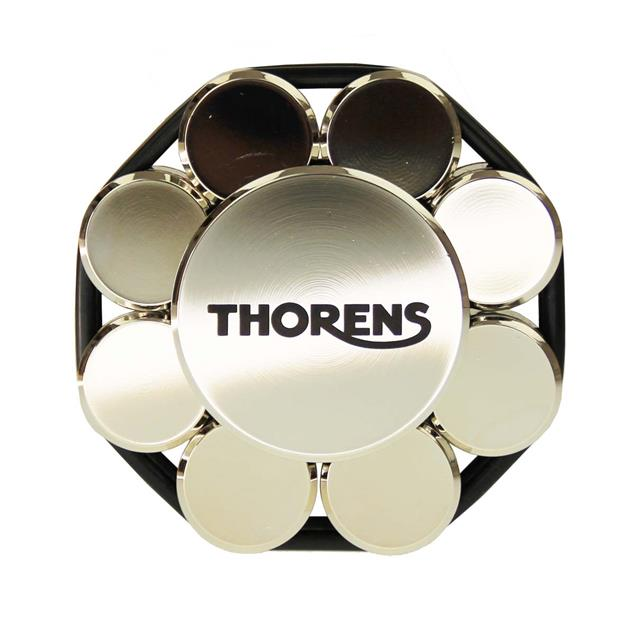 THORENS stabilizer - record load-bearing weight (for record players / in chrome / delivered in a wooden box)