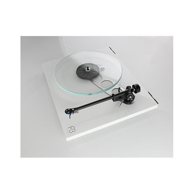 Rega Planar 3 - record player with Rega RB330 tonearm and Rega ELYS-2 MM cartridge (high-gloss white / 2016 version)
