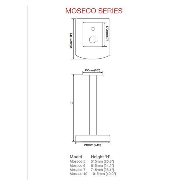 Atacama Moseco / NeXXus top plate option pack (160 mm x 220 mm / black / 1 pair)