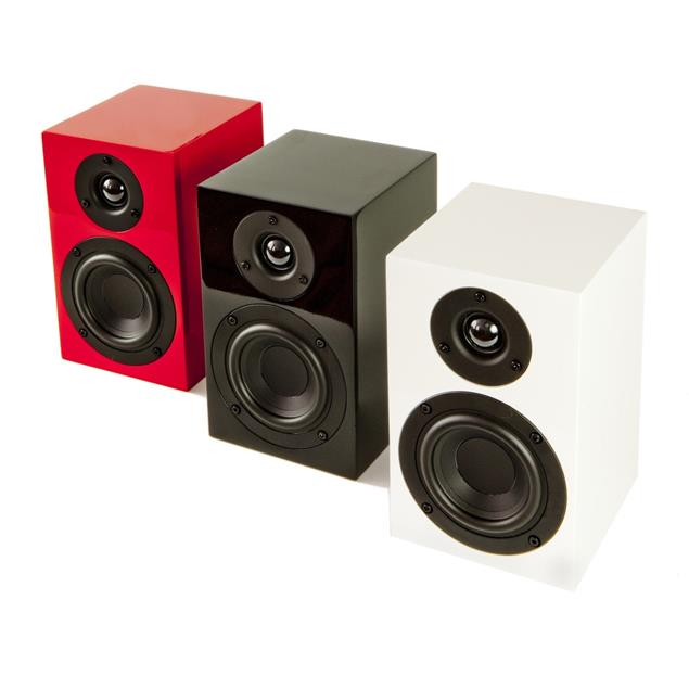 Pro-Ject Speaker Box 5 - 2-way compact monitor loudspeakers (10-150 W / high-gloss black / 1 pair)