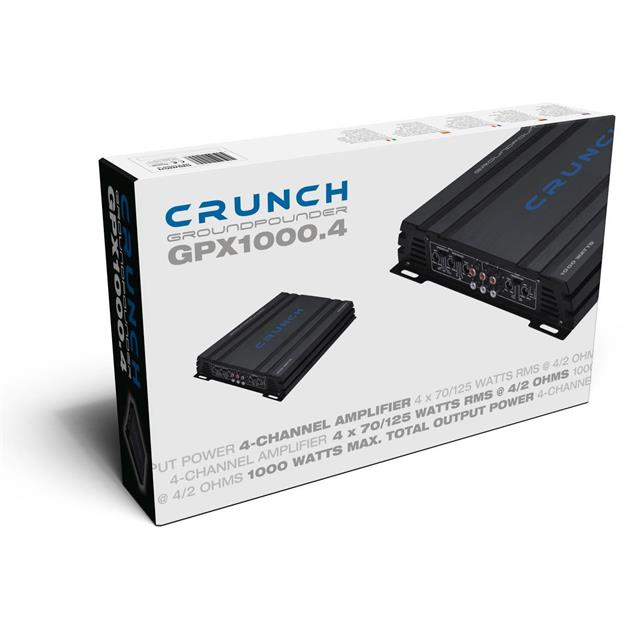 CRUNCH GPX1000.4 - 4-channel amplifier (2 x 250 Watts / max. power handling = 1000 Watts)