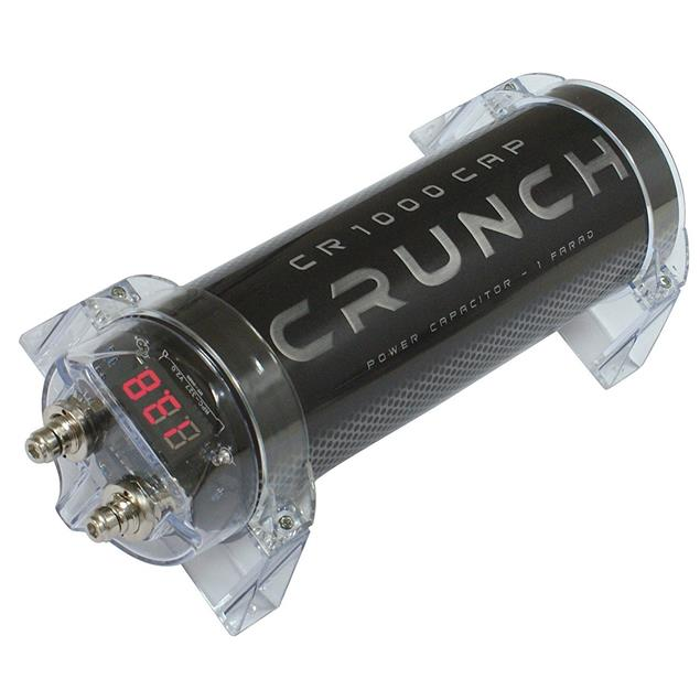 CRUNCH CR-1000 CAP - power capacitor (1.0 farad capacity / high-quality powercap)