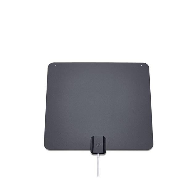 Oehlbach 17215 - XXL® Razor Flat - extremely flat DVB T2 HDTV antenna (with excellent reception properties / USB power supply / black/grey)