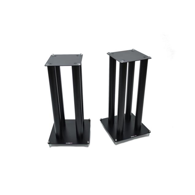 Atacama SLX600 - loudspeaker stands (645 mm / black / incl. large top plates for bigger loudspeakers / four support columns per stand / 1 pair)