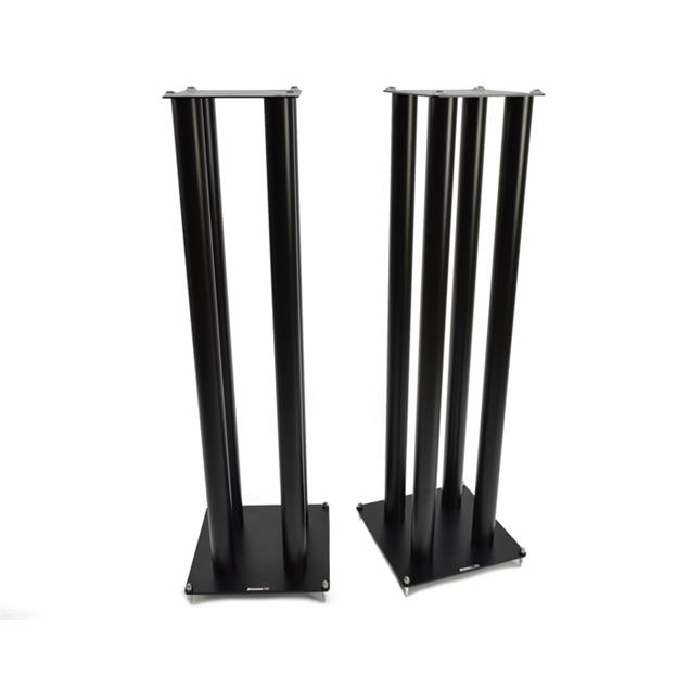 Atacama SLX1000 - loudspeaker stands (1045 mm / black / incl. large top plates for bigger loudspeakers / four support columns per stand / 1 pair)