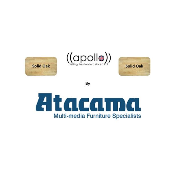 Atacama APOLLO - STORM 6 - hi-fi rack - 135 mm shelf-module (made from light solid oak / silk black modules / incl. spikes)