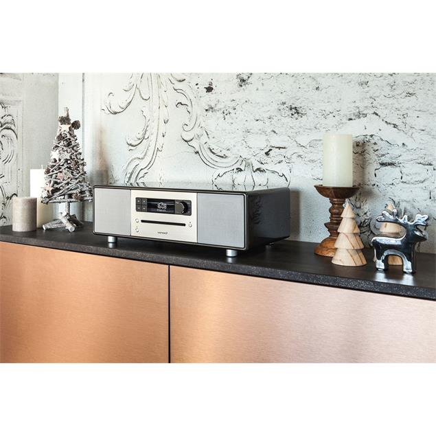 Sonoro sonoroSTEREO - stereo music system (Bluetooth / CD / FM/DAB/DAB+ digital radio / prefabricated natural sounds / high-gloss black)