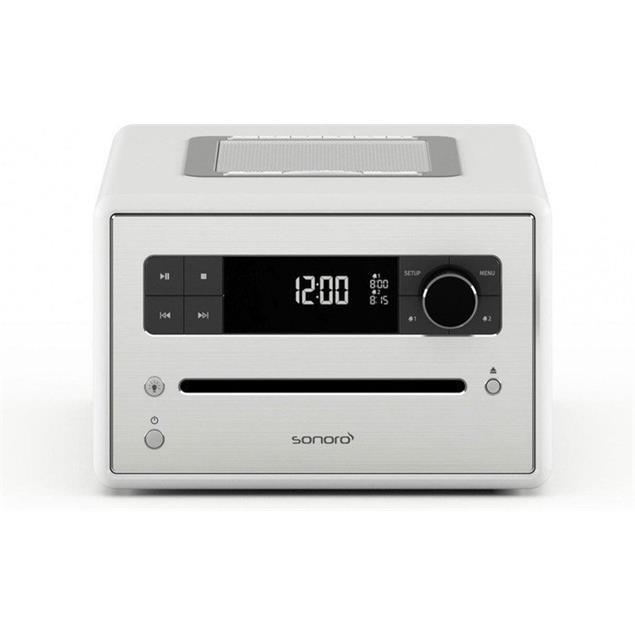 Sonoro sonoroCD 2 - stereo music system (CD / FM/DAB/DAB+ digital radio / Bluetooth / high-gloss white)
