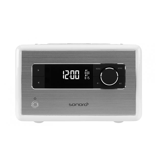 Sonoro sonoroRADIO - music system (Bluetooth / FM/DAB/DAB+ digital radio / dimmable display / sleep timer / high-gloss white)