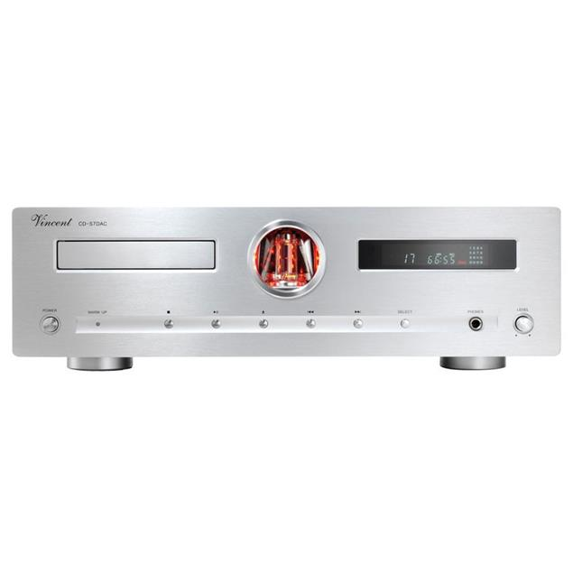 Vincent CD-S7 DAC - hybrid CD player (incl. D/A converter / incl. remote control / silver)