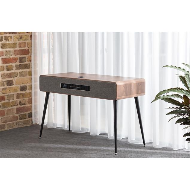 ruarkaudio R7 MKIII - sound system as hi-fi music cabinet (DAB / DAB+ / FM tuner with RDS / CD player with front panel / 160 W / incl. fluorescent display / walnut real wood veneer)