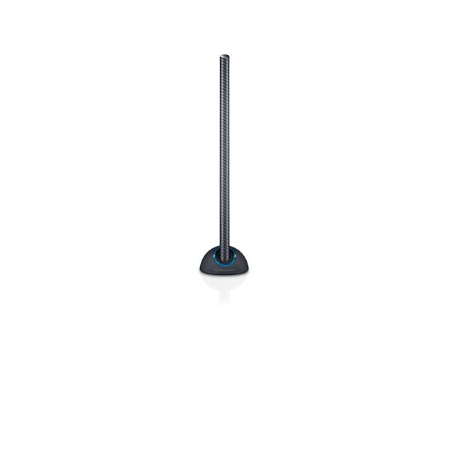 Oehlbach 17213 - Scope Max - rod antenna with omni-directional DVB-T/T2 reception (with adjustable amplifier / DVB-T / DVB-T2 HD / HDTV / full HD-Video / black)