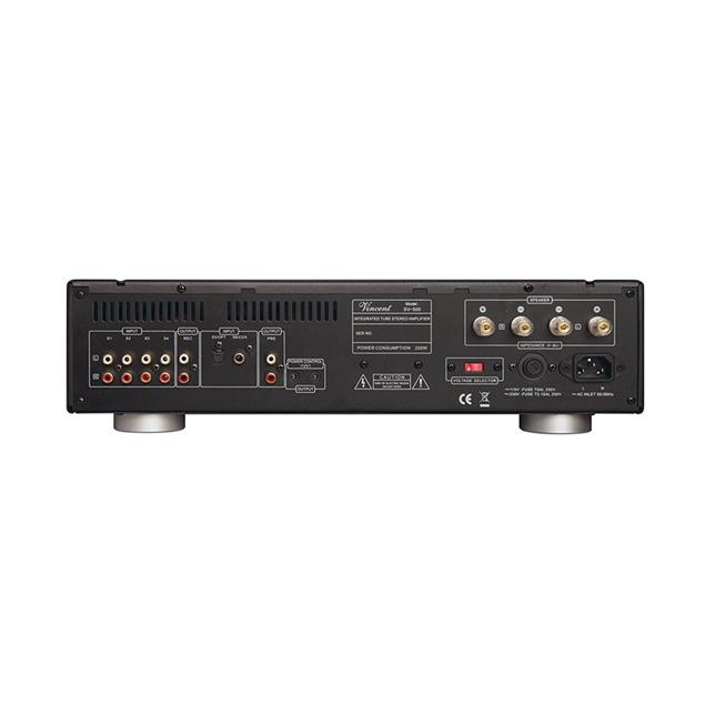 Vincent SV-500 - hybrid stereo integrated amplifier (2 x 50 Watts RMS to 8 Ohm / 2 x 80 Watts RMS to 4 Ohm / incl. remote control / black)