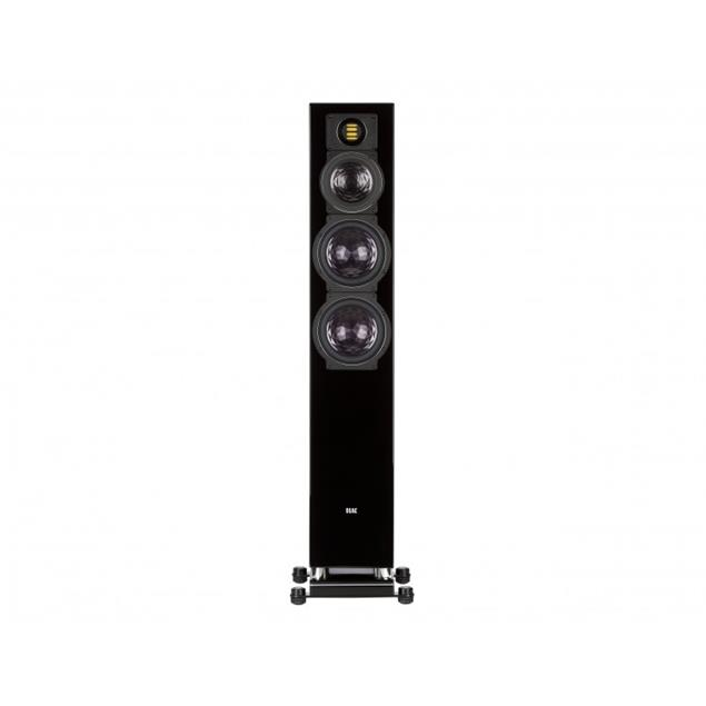 Elac AIR-X 409 - 3-Wege Bassreflex-Standlautsprecher (max. 600 Watt / vollaktiv / Hochglanz schwarz / 1 Stück)