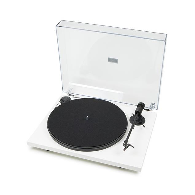 """Pro-Ject Primary - record player incl. tonearm + Ortofon OM 5E MM cartridge (matt white / with straight 8,6"""" tonearm / incl. dust cover / plug & play)"""