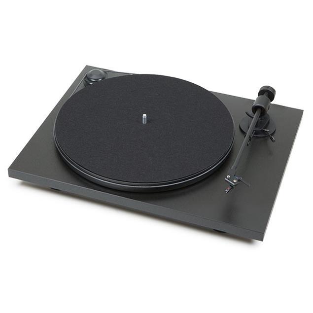 "Pro-Ject Primary - record player incl. tonearm + Ortofon OM 5E MM cartridge (matt black / with straight 8,6"" tonearm / incl. dust cover / plug & play)"