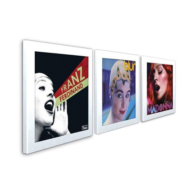 "Art Vinyl record frames - Play & Display for LPs (set of 3 / 12"" vinyl display frame / in gift package / white)"